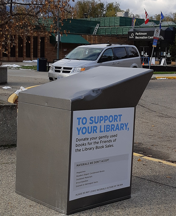 Friends of the Library - Donation Box - Parkinson